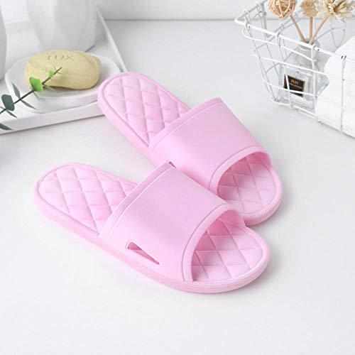 HUSHUI Bañarse Sandalias Zapatillas para Mujer,Zapatillas de baño Antideslizantes, Sandalias de Hotel de Fondo Suave para Amantes-Pink_38-39,Zapatos de Playa y Piscina para