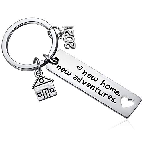 New Home Keychain 2021 Housewarming Gift for New Homeowner House Keyring Moving in Key Chain New Home Owners Jewelry from Real Estate Agent