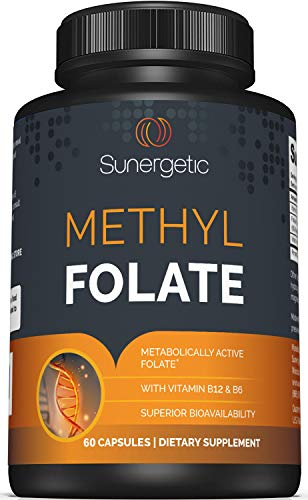 Premium Methyl Folate Supplement – Methyl Folate Capsules with Methylated Vitamin B12 and Vitamin B6 – Metabolically Active Folate as Magnafolate - Methylfolate 400 mcg per Capsule – 60 Capsules