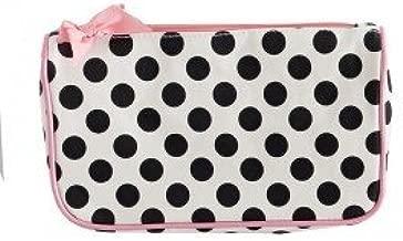 Jessie Steele Cream and Black Polka Dot Generous Cosmetic Bag