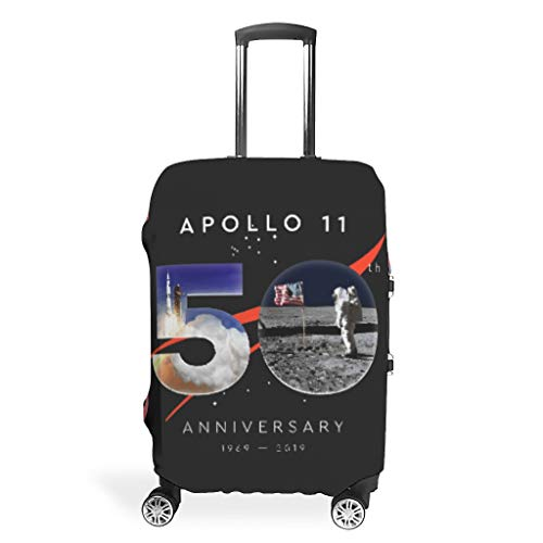 VVEDesign Travel Luggage Cover Washable Fashion Spandex Travel Suitcase Cover Dustproof Anti-thief Luggage Protector Case Apollo 11 50th Anniversary 3D Printing white 30-32in