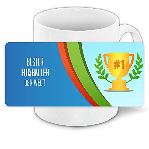 Tasse für Sportler mit Motiv - Bester Fußballer der Welt -   Motiv-Tasse   Bedruckte Tasse