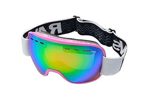 Ravs Skibril, voor dames, sneeuwbril, snowboardbril, kleur roze