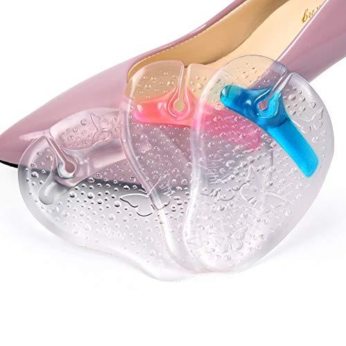 3 pares de sandalias de silicona para el antepié del pie, antideslizantes, inserciones para sandalias, insertos acolchados, bola de pie (color al azar)