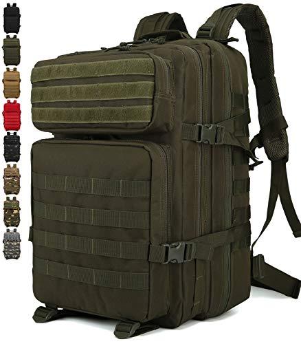 Doshwin Zaino Militare Tattico Molle Army US Assault Pack Military Tactical Backpack da Trekking Escursionismo Viaggio per Donna Uomo / 40L (Oliva)