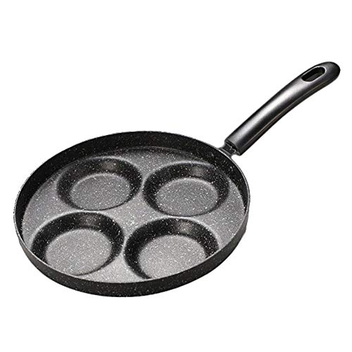 Litty Ei-Pfanne, Ei Sandwich Maker, kleine Bratpfanne, Aluminium 4-Cup Ei Bratpfanne, Ei Sandwiches zum Frühstück Machen