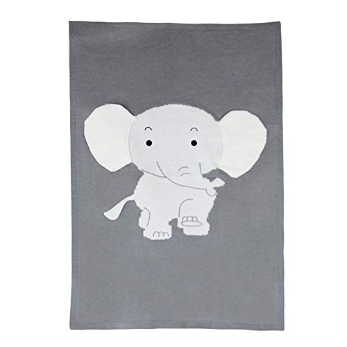 Hifuture Couverture D'éléphant|Éléphant Couverture Tridimensionnelle Oreille Couverture Couverture Tricotée Couverture Tapis De Plage Bébé Bébé Bébé Câlin