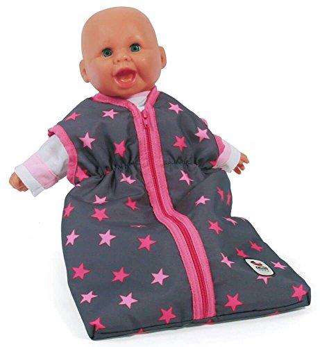Bayer Chic 2000 792 82 Puppen, Schlafsack für Babypuppen, Sternchen pink