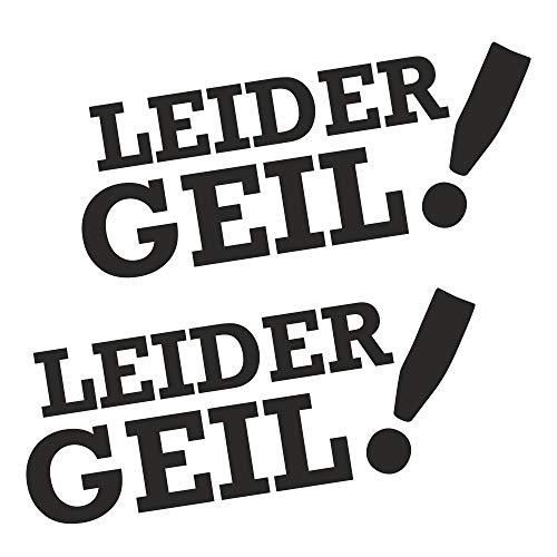 folien-zentrum 2X Leider Geil 12 x 4,5 cm schwarz Aufkleber Tuning 31 Shocker Auto JDM OEM Dub Decal Sticker Illest Dapper Oldschool Folie