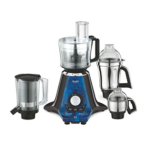 Preethi Zodiac 2.0 750-Watt Mixer Grinder with 4 Jars (Black), MG235