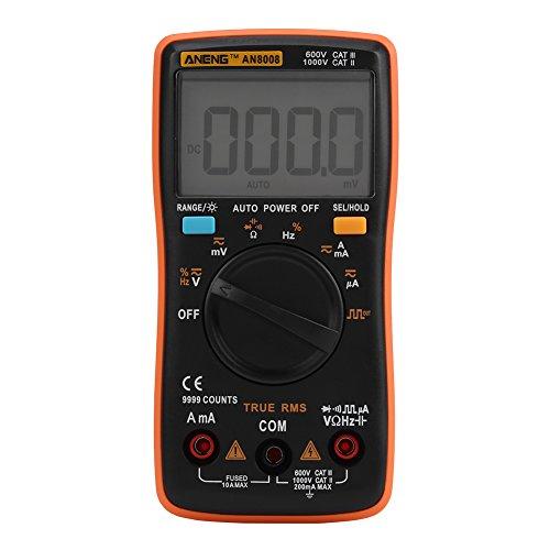 Aneng Multímetro Digital, an8008 Auto-Ranging AC DC Voltímetro Electrónica Ohmios/V, Voltaje, Medidor de Pruebas de Corriente Multímetro Multi Tester