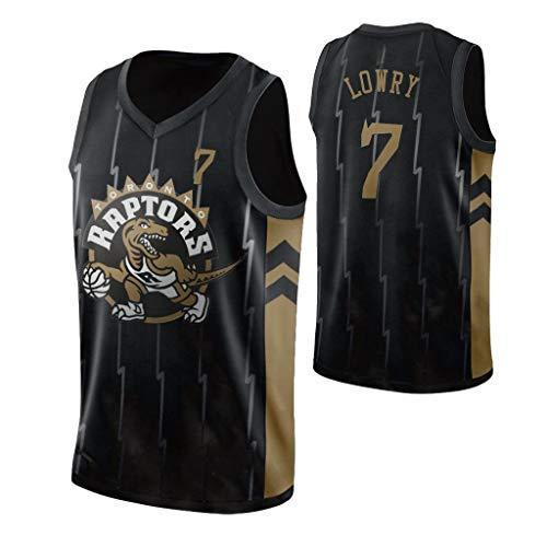 Männer Jersey - Raptors # 7 Lowry Retro Jersey Kühle Breathable Gewebe Sleeveless T-Shirt Unisex Basketball-Trikot,XXXL(190~195cm)