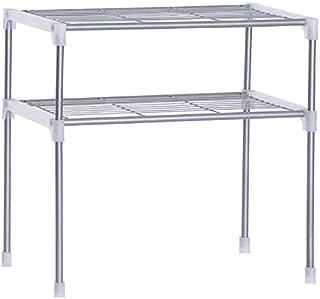 TOOGOO Djustable Steel Microwave Oven Shelf Detachable Rack Kitchen Tableware Shelves Home Bathroom Storage Rack Holder