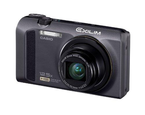 Casio Exilim EX-ZR100 Highspeed-Digitalkamera (12 Megapixel, 12,5-fach opt. Zoom, 7,6 cm (3 Zoll) Display, bildstabilisiert) schwarz