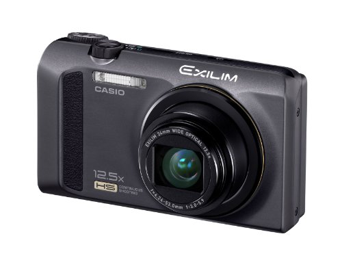 Casio Exilim EX-ZR100 Highspeed-Digitalkamera (12 Megapixel, 12,5-fach opt. Zoom, 7,6 cm (3 Zoll) Display, bildstabilisiert) schwarz