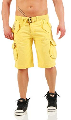 Pantalones amarillos cargo para hombre