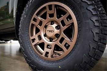 TOYOTA Genuine 17  Bronze TRD PRO Wheel Set w/Black Lug Nuts Set PTR20-35110-F5 x4 + PT076-60200-02 x4 Bundle