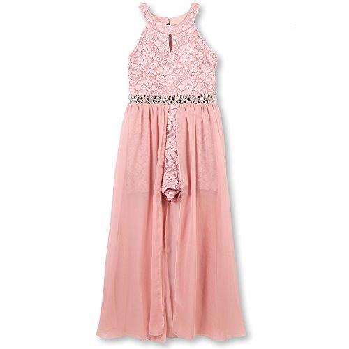Speechless Big Girls High Neck Maxi Romper Dress, New Mauve, 10