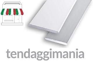 tendaggimania Perfil peso lastre Plano de Aluminio Blanco, Múltiples usos, Ideal para cortinas A Paneles y paquete, DE 30y 40mm, diferentes longitudes