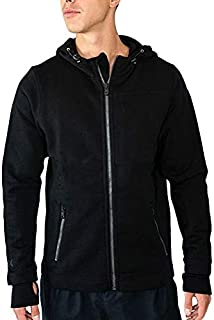 Mens Grizzly Full Zip Merino Wool Hooded Sweatshirt For Extreme Warmth