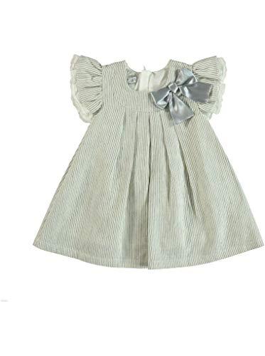 Monna Rosa Milano Peuter Baby Meisje%60 Katoen%40 Linnen Zomerjurk Geschikt voor 6-24 Maanden Korte mouw Casual Ceremony Stijlvolle Premium Outfit