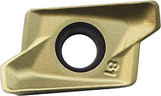Mitsubishi Materials OEMX1705ETR1 NX4545 Uncoated Cermet Milling Insert 0.197 Thick Chamfer Honing 0.669 Inscribed Circle Class M Octagonal Pack of 10