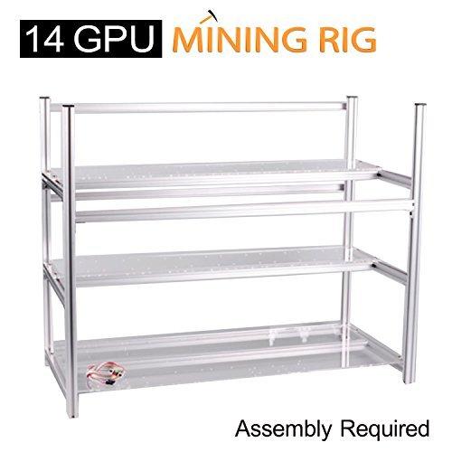 Aluminum 14 GPU Mining Case Rig Open Air Frame