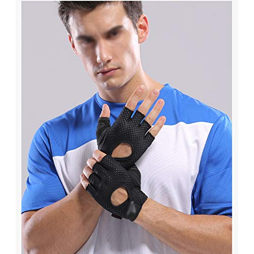 asdf Anti-Cocoon Fitness Gloves, Exercise Horizontal Bar Equipment, Pull-ups, Half Fingers, Female and Male Training, Non-Slip Sports, Thin Section