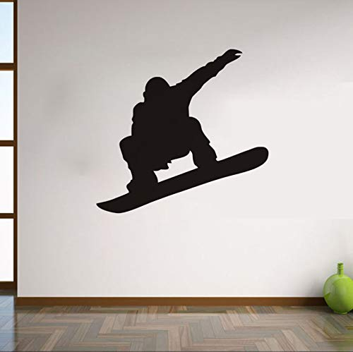 Zybnb Sport Wallpaper Snowboard Player Silhouette Schwarz Jungen Geschenk Vinyl Pvc Schlafzimmer Sport Center Im Freien Platz Wandbild Dekor