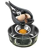 DUEBEL Stainless Steel Egg Separator Automatic Egg Cracker for Raw Egg White Separator Tool Handheld...
