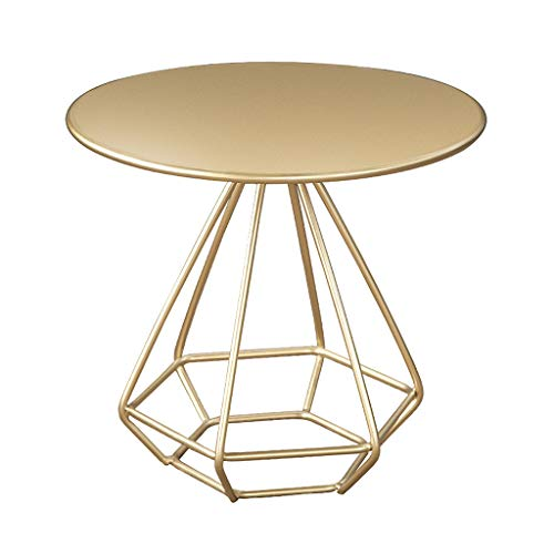 ZTCWS Modern End Table, Round Side Table with Metal Frame, Small Round...