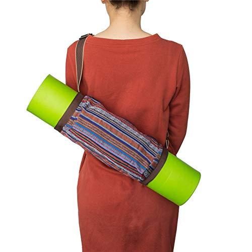 chunnron Funda Esterilla Yoga Bolsa Esterilla Yoga Estera de Yoga con Bolsa de Transporte Bolsas de Transporte de Esterilla de Yoga Ejercicio Mat Bolsa Red,-