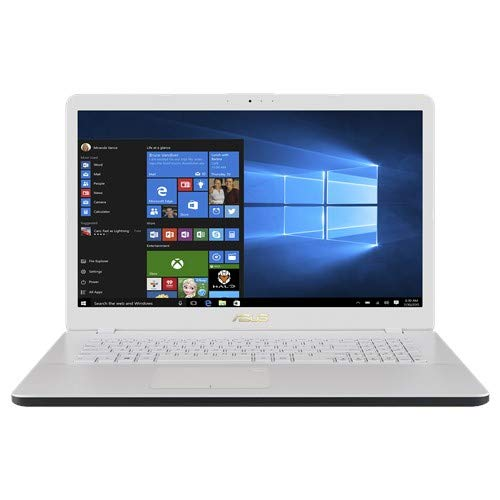 ASUS Notebook (17,3 Zoll Full HD Matt) AMD A4-9125 2.3 GHz DualCore, 8GB RAM, 256GB SSD, AMD Radeon R3, W-LAN, BT, HDMI, Windows 10 Pro weiß