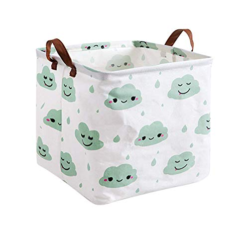 QUK Cube Folding Laundry Basket Clothes Storage Basket Storage Barrels For Children Toy Organizer Bag Gift Box Storage Bins Containers | Storage Baskets |