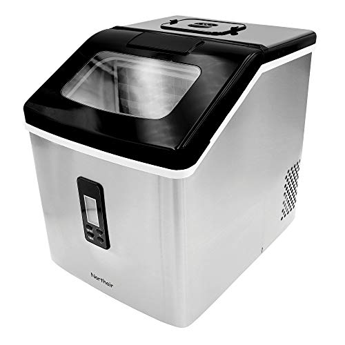 Northair Ice Maker Countertop with 40lbs/Day (500 Cups Drinks), 24pcs Ice Cube Produce in 15 Minutes, Compact Ice Make Machine Ma (40lbs/Day)
