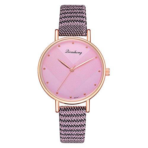 Reloj de pulsera de moda de la PU del movimiento de cuarzo de la exhibición analógica de