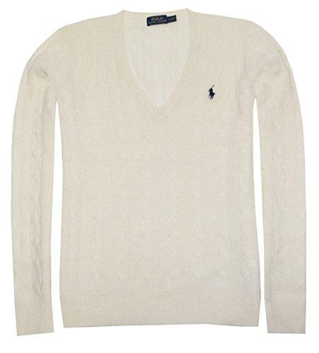 Polo Ralph Lauren Womens Merino Wool Sweater (M, Cream)