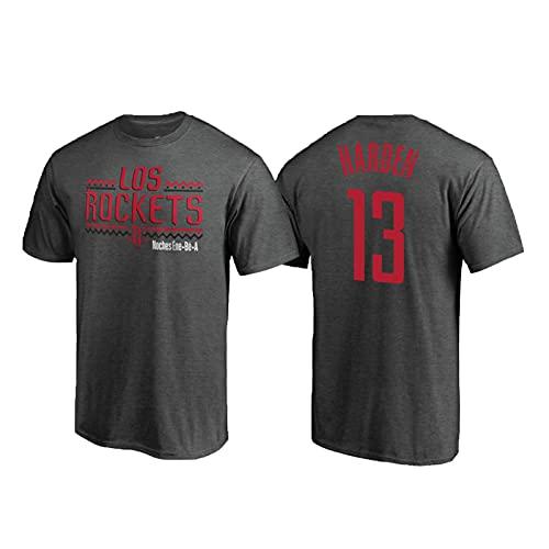 USSU Camisetas de Camiseta de Baloncesto para Hombre HǎRDěN RǒCKěTS 13# Tops Uniformes Ropa de Baloncesto para Hombre Ropa de Fitness Ropa Casual, Secado rápido, Partido S