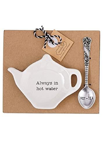 Mud Pie Home Kitchen Circa Tea Time Teapot Tea Bag Spoon Rest Sets 42600444 Always in hot water