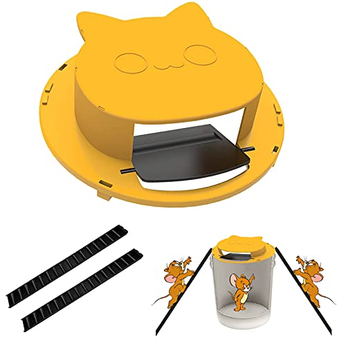 Newlove Mouse Trap Bucket Lid, Humane Rat Trap, Reusable Flip N Slide Bucket Lid Mouse Catcher, Auto Reset Plastic Mice Trap for House, Indoor, Outdoor