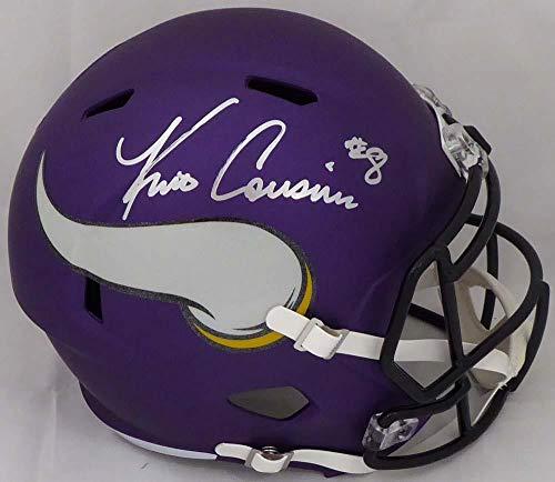 Kirk Cousins Signed Helmet - Matte Purple Full Size Speed Replica Beckett BAS Stock #147966 - Beckett Authentication