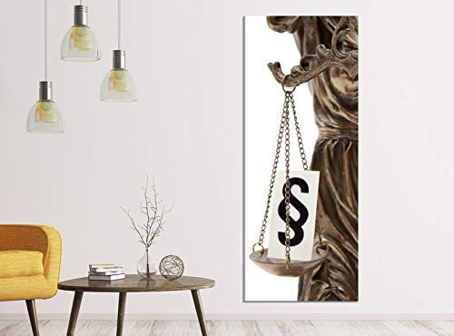 Leinwandbilder 1Tlg 40x100cm Anwalt Paragraph Göttin Justitia Waage Leinwandbild Kunstdruck Wand Bilder Vlies Wandbild Leinwand Bild Druck 9ZA073, Leinwandbild Gr. 1:40cmx100cm