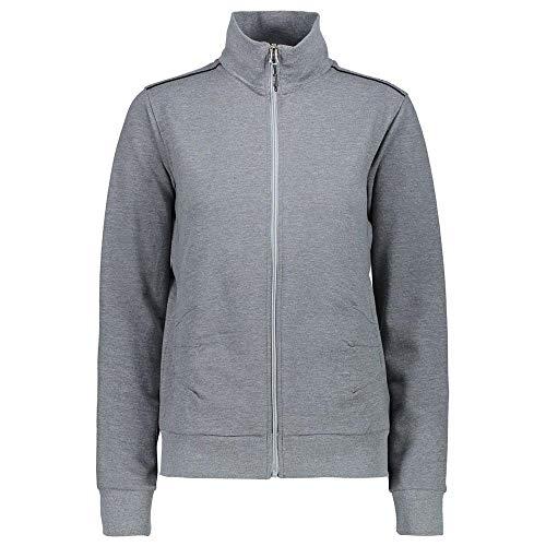 CMP Sweatjacke Jacke Woman Jacket GRAU ELASTISCH PFLEGELEICHT Stretch (38)