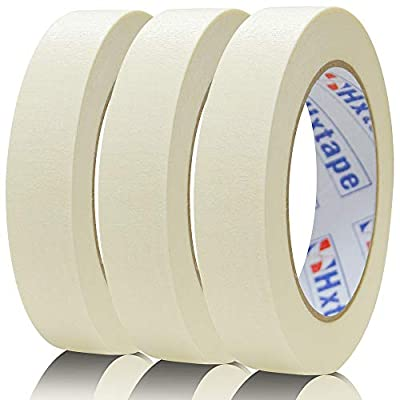 Hxtape White Masking Tape,Multi Size Choices,Easy Tear Multi-Use Tape,Adhesive Leaves No Residue,Great to Labeling, Painting, Packing ect.
