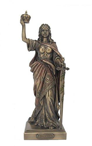 Unbekannt Figur Göttin Germania bronziert und coloriert Veronese
