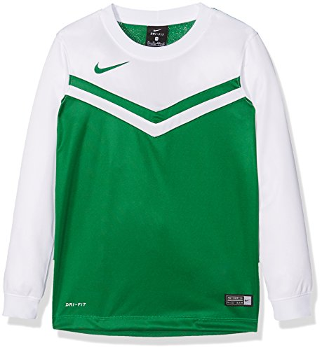 Nike Kinder Jersey Victory II LS Langarm Trikot, Pine Green/White, XL