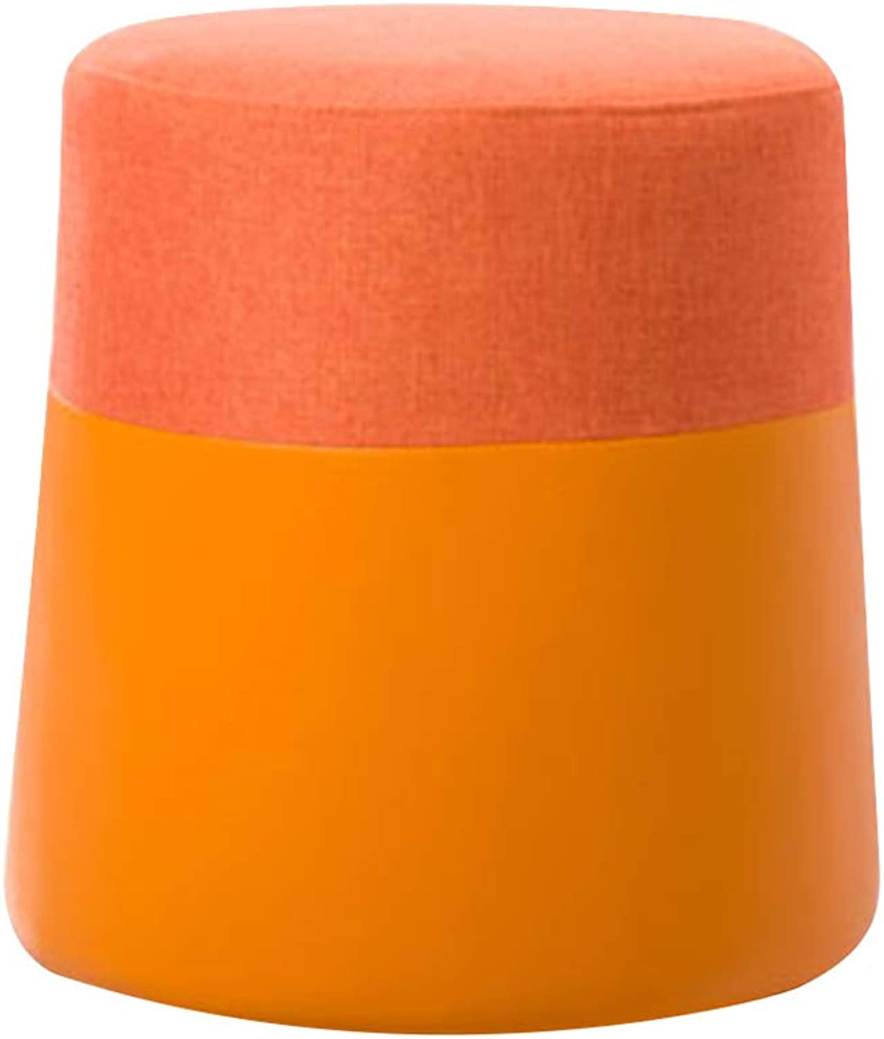 Dressers & Chests of Drawers Makeup Stool Fashion Round Stool Fabric Sofa Stool Creative Makeup Stool Home Dressing Dressing Room Bench (color   orange, Size   38  38  40cm)