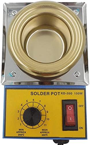 WSVULLD Mini horno de fusión del mini lata, la olla de soldadura de grado de regulación de la temperatura continua, capacidad de 50 mm, 500 g, 200-480 □ Ajustable, núcleo de calentamiento metálico, ti