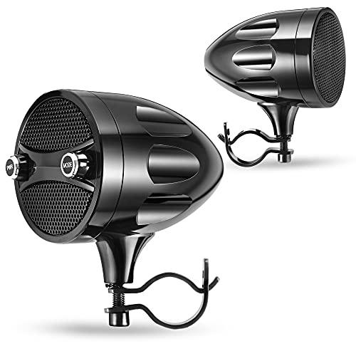 KSPEAKER Motorcycle Speakers Bluetooth Waterproof Radio Audio System Built-in Amplifier, 3 Inch Metal Mp3 Player, Great for ATV, Scooter Bike,12 Volt Vehicle, S7BL