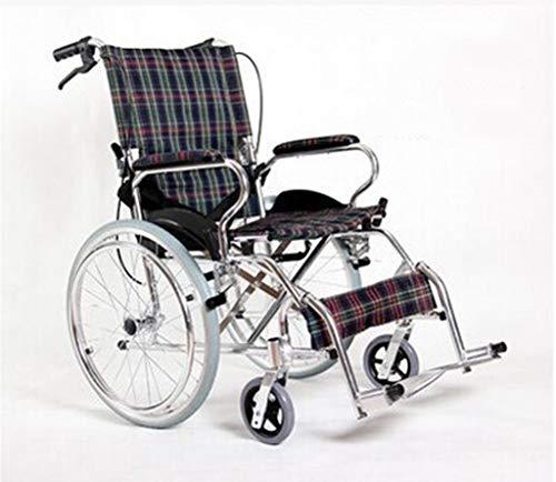 IOFESINK Walker Chair Wheelchair Rollstuhlwagen, zusammenklappbares, handbetätigtes Schubgerät, geeignet for Rollstühle for Erwachsene und behinderte Aluminium-Reiseroller (Color : B)